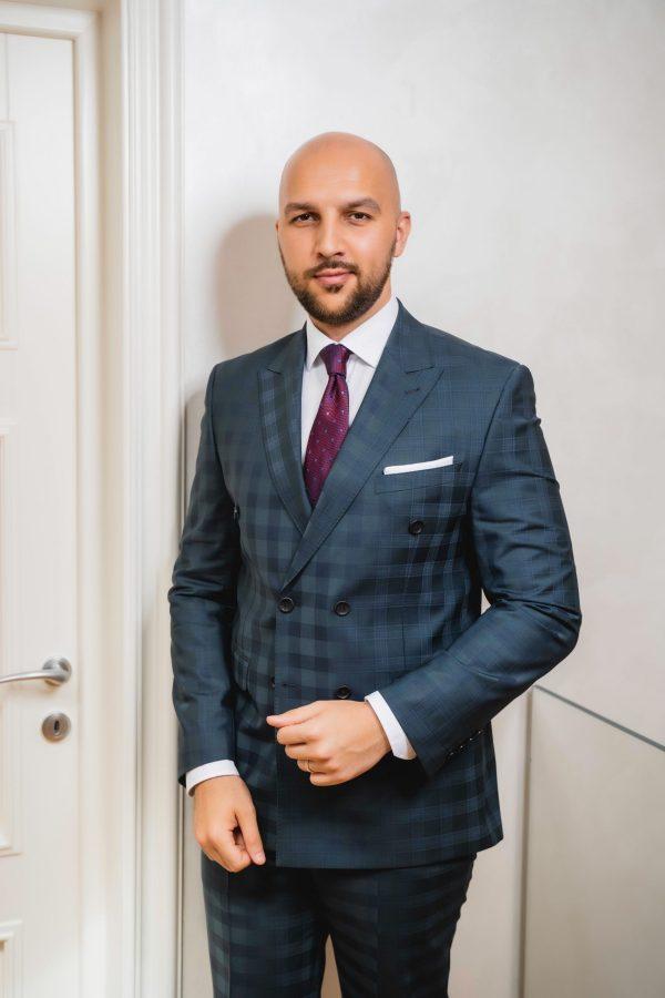 Costum-Verde-Double-Breasted-Carouri-Costume-Nunta-Magazin-Costume-Barbati-Cluj-Napoca-Gentlemen's-Boutique-Gold-